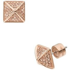 pyramid stud earrings rose gold - Google Search