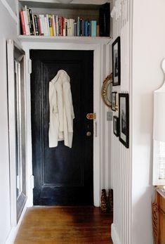 small hallway & bookshelf...