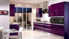 trendy colors kitchen trends 2018 modern kitchen - Home Decorations Purple Kitchen Cabinets, Kitchen Cabinet Colors, Kitchen Colors, Kitchen Decor, Kitchen Ideas, Kitchen Cupboards, Kitchen Appliances, Purple Kitchen Designs, Modern Kitchen Design