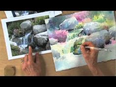 Painting Cascading Water: Watercolor Unleashed with Julie Gilbert Pollard