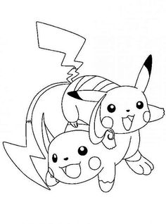 Pikachu Printable Coloring Pages Awesome Pokemon Raichu Coloring Pages at Getcolorings Quote Coloring Pages, Online Coloring Pages, Free Printable Coloring Pages, Colouring Pages, Coloring Pages For Kids, Coloring Books, Pikachu Coloring Page, Pokemon Coloring Pages, Cartoon Coloring Pages
