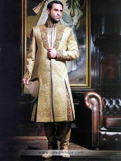 Pakistani and Indian Designer Wedding Sherwanis, Groom Sherwanis USA - Needlehole.com Shop Online