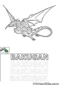bakugan drago coloring pages - 710px darkus