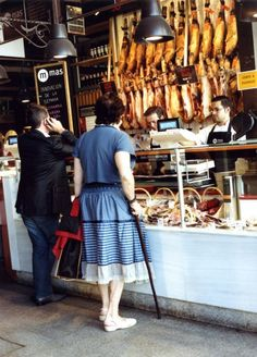 Some of the best jamón in Madrid is at the Mercado de San Miguel.