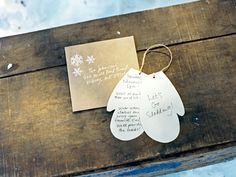 Cute mitten invitations for a winter party.     #parties #invitations