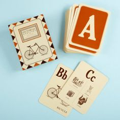 Vintage flash cards