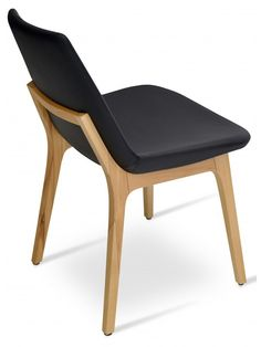 Eiffel Wood Chair In Black Italian PPM With Original Natural Ash