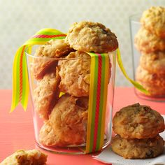 Aunt Myrtle's Coconut Oat Cookies Recipe -These cookies are the stuff of happy memories. Coconut and oatmeal give them rich flavor and texture. Store them in your best cookie jar. —Catherine Cassidy, Taste of Home Editor-in-Chief