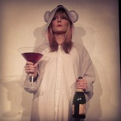 Grace the koala with her wine. perf.