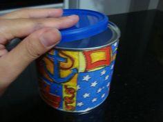 Made by Samy: DIY - Decoupage em lata de suplemento   Olá pessoa...