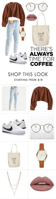 """""""Coffee first ☕"""" by emina-996 ❤ liked on Polyvore featuring American Eagle Outfitters, Uniqlo and NIKE"""