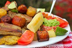 Fritanga o Picada Colombiana ( Fried Food Platter)