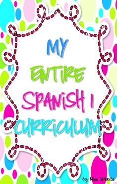 A year's worth of lessons, activities, and assessments for Spanish 1!