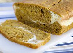 Cream cheese ripple pumpkin bread
