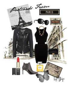 Postcards From Paris by dop37 on Polyvore featuring polyvore, fashion, style, AX Paris, Jofama, Yves Saint Laurent, Chanel, L'Oréal Paris and Spicher and Company