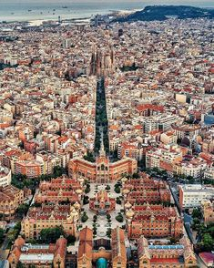 Sky view ~ Barcelona, Spain