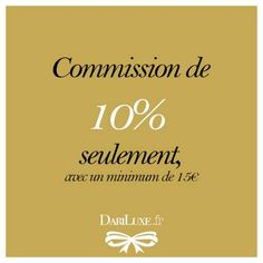 Vendez vos produits de luxe sur dariluxe.fr et profitez de l'une des commissions les plus basses sur le marché ! dariluxe.fr
