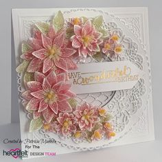 Sun Kissed Fleur Birthday by TrishaMat - Cards and Paper Crafts at Splitcoaststampers Flower Cards, Paper Flowers, Chloes Creative Cards, Stamps By Chloe, Poinsettia Cards, Heartfelt Creations Cards, Tattered Lace Cards, Altenew Cards, Birthday Sentiments