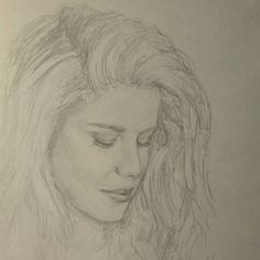 #MySketchBook #CH #Page #12 #girl #woman #longhair #curly #blonde #beauty #portrait #drawing #pencil #sketch #35minutes #MyArt #art #fanArt #felicitysmoak #arrow (I tried to draw @emilybett)