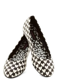 Love to Linger Flat - Flat, Faux Leather, Black, White, Print, Valentine's, Good, Casual