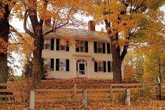 American house #fall #house #usa