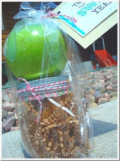 Caramel Apple Favors...Great for a rustic theme wedding.