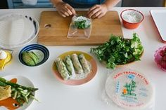Cooking with kids: Even fussy kids can be excited by a dish they have a hand in making. These Vietnamese-inspired ideas offer plenty of opportunities to get involved Vietnamese Rolls, Vietnamese Recipes, Kid Friendly Meals, Child Friendly, No Cook Meals, Kids Meals, Summer Rolls, Healthy Snacks For Kids, Cooking With Kids