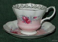 Royal Albert Cup Saucer Sunset Pattern Rose Marie Series