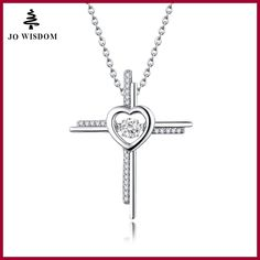 Natural Stone Topaz Cross Necklaces&Pendants 925 Sterling Silver Jewelry Collane Con Pendenti Wholesale Price