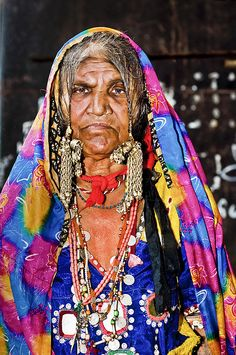 The Ancient Nomads of India - a Lambadi Woman !