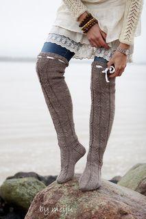 thigh high knitting pattern