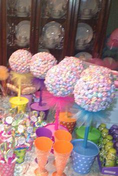 Candyland decorations dum dum tree lollipops  by GrapeWineBottles, $350.00