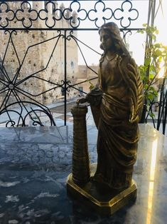 sainte vierge marie statue , Handmade statue mad in Europe ( kg antique copper , ancient antiquities of nineteenth century .
