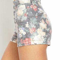 Flower Power High-Waisted Shorts
