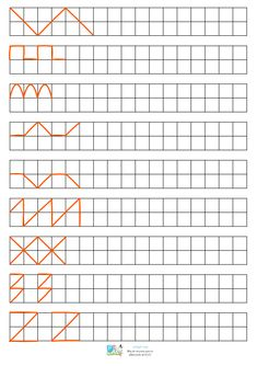 × 2 of 7 Therapy Activities, Kindergarten Activities, Preschool Activities, Teaching Cursive Writing, Preschool Writing, Shapes For Kids, Math For Kids, Graph Paper Art, Kids Math Worksheets