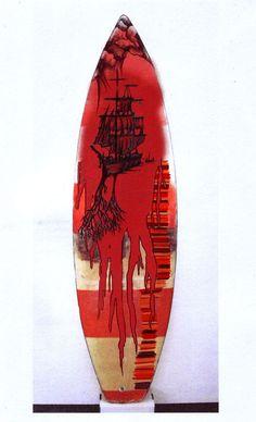 Surfboard Design Inspiration: I like the ship idea
