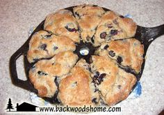 Banana, blueberry, and peach scone recipes from Ilene Duffy.  Delicious!