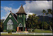 Waioli Huila Church built in 1912, Hanalei. Kauai island, Hawaii, USA (color)