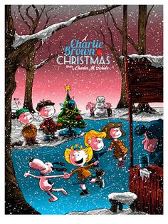 A Charlie Brown Christmas By Tim Doyle & Ridge Rooms Poster Release From Dark Hall Mansion
