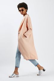 Textured Longline Duster Jacket