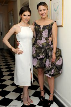 Dramatic: One Tree Hill alum Sophia Bush donned a voluminous floral-print skirt...