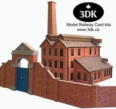 New Model Railway OO Gauge Card Kit Downloadable. We have been working hard at 3dk over Christmas and New Year to bring you the first of our factory complex buildings. Only the instructions are left to complete, so we are looking at a release date of 31st Jan 2018. Kit will retail for £4.90 = C$8.40.