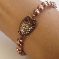 2 for 15Brass bead owl bracelet Owl bracelet. 15% off bundlesmix & match with any 2 for 15 item in my closet.  Comment under the ones you'd like so I can make you a discounted bundle listing Jewelry Bracelets