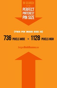 In search of the PERFECT PINTEREST PIN size when designing custom pins? Go here! http://designerrobrusso.com/what-is-the-perfect-pinterest-pin-size/