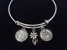Sister My Best Friend Expandable Charm Bracelet Adjustable Bangle Trendy Gift Charm Bracelet