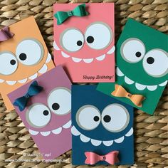 Ideas Birthday Crafts For Kids To Make Simple Kids Birthday Cards, Birthday Crafts, Birthday Ideas, Bday Cards, Birthday Images, 30th Birthday, Birthday Cake, Tarjetas Diy, Monster Cards