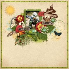 Digital Scrapbook Kit - Happy Camper | Kristin Aagard
