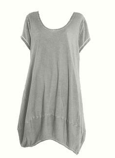 Barbara Speer Kleid Tunika Shirt in leinen old look Lagenlook XL - XXL bei www.modeolymp.lafeo.de