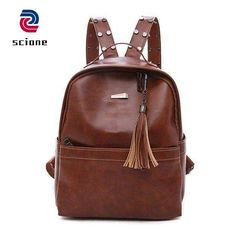 8d35fa1e3e Fashion Preppy Style Women Backpack Female Leather Backpacks High Quality School  Backpack For Student Girls.