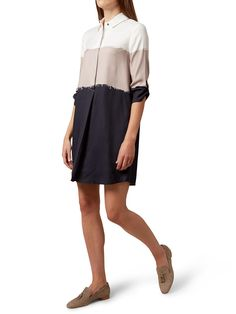 BuyHobbs Marci Tunic Dress, Navy/Camel, 6 Online at johnlewis.com